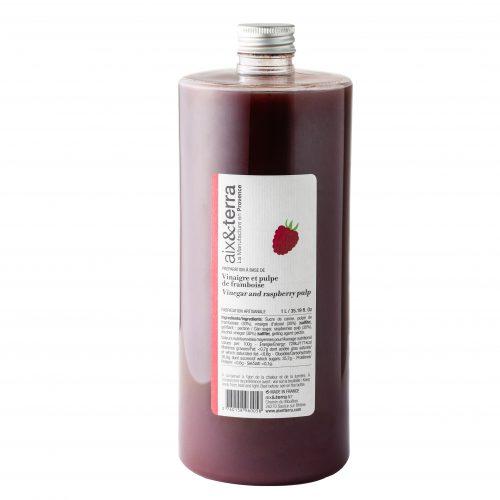 Préparation à base de Vinaigre à la pulpe de Framboise 1L