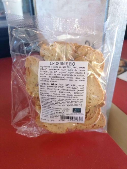 Aperitif Biscuits Crostini's ORGANIC 70gr